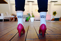 wear socks with your heels